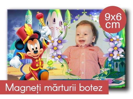 Magneti marturii botez 9x6 cm